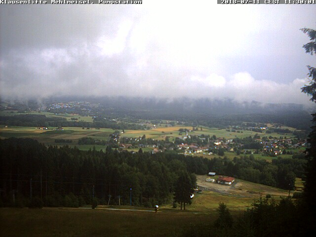 Webcam Skigebied Mehlmeisel - Klausenlifte Piste - Fichtelgebergte