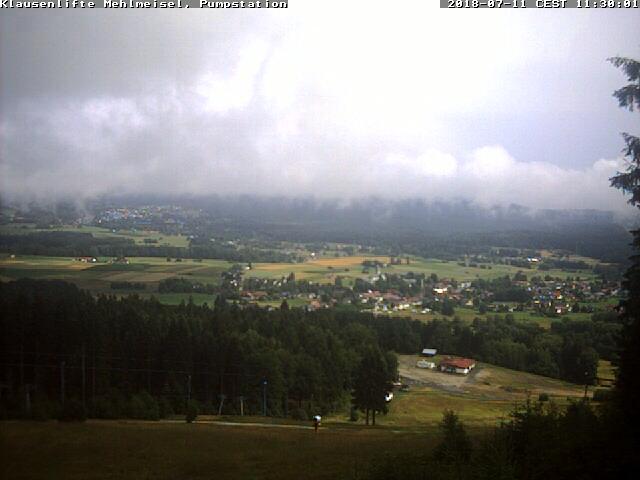 Webcam Skigebiet Mehlmeisel - Klausenlifte Piste - Fichtelgebirge